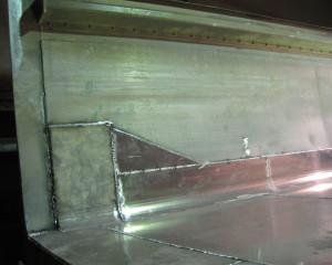 Aluminium repairs inside truck body