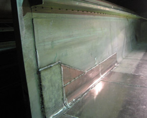 aluminium welding services on truck trailer