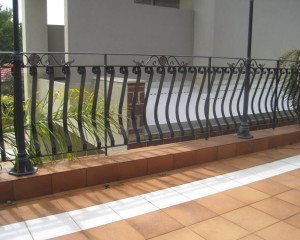Custom Wrought Iron Balcony WA